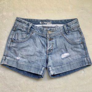 Express Denim button fly shorts 4